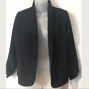 NEW Ali & Kris black open light jacket blazer MED